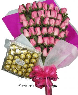 Bouquet X 40 Rosas 300x366 Tienda