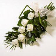 Bouquet funebre en rosas y tejido de hojas. 60.000 80.000 100.000 190x190 Tienda