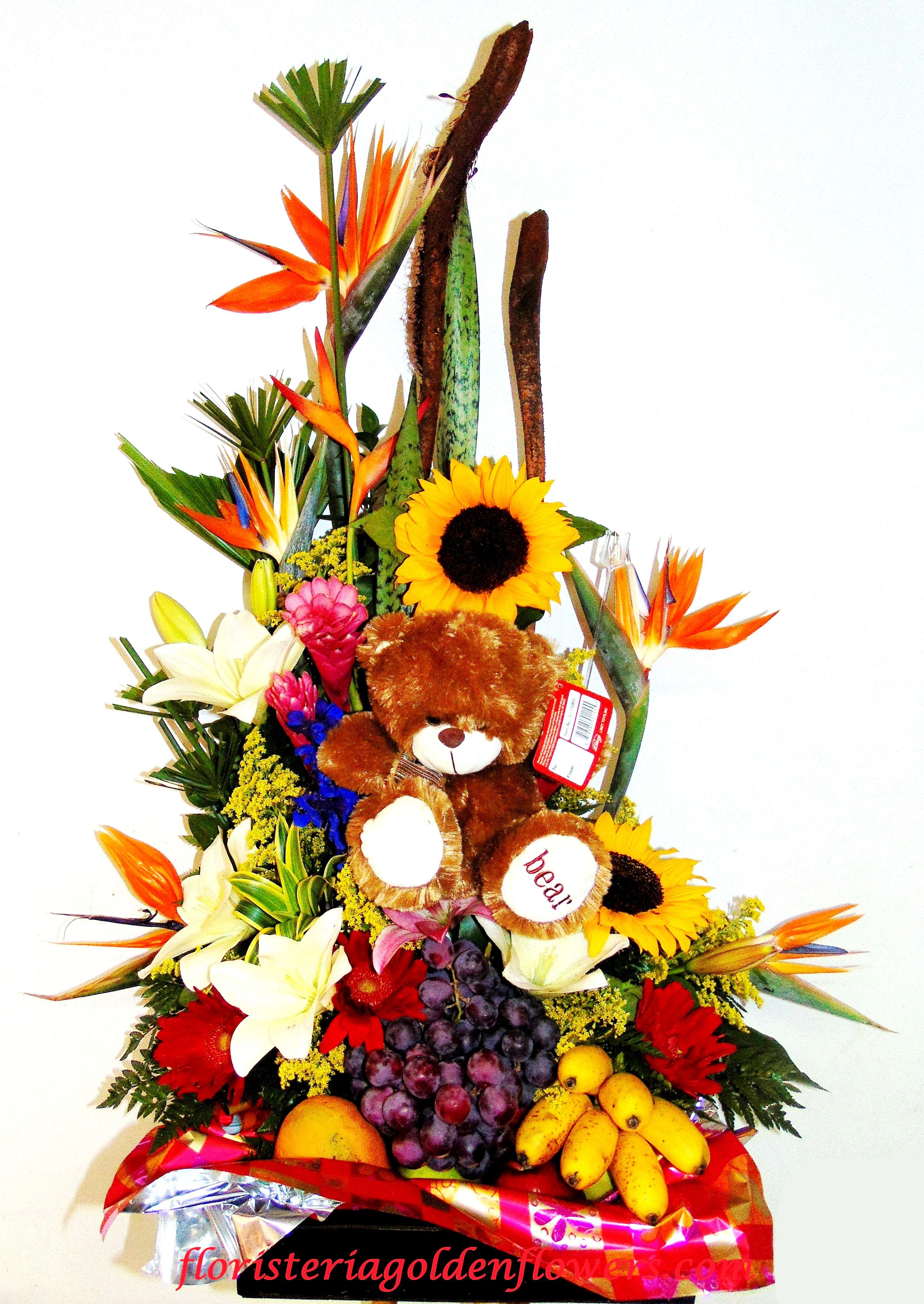 Fruteros F 07 Diseño En Frutas Y Flores Exoticas