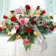 Ramo funebre en rosas surtidas y helecho. 65.000 85.000 105.000 190x190 Tienda
