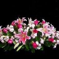 Ramo funebre tradicional en rosas lirios y aleli. 65.000 85.000 105.000 190x190 Tienda