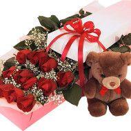 caja con rosas y oso 115.000 135.000 155.000 190x190 Tienda