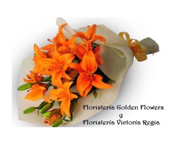 orange-lillies-bouquet