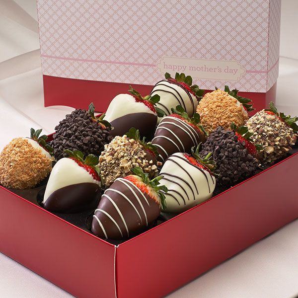 12 Fresas con chocolate