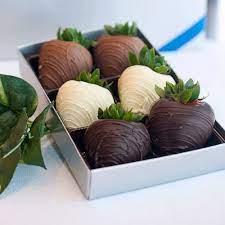 6 fresas con chocolate